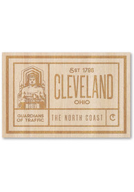Cleveland Wooden Rectangle Stickers