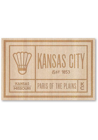 Kansas City Wooden Rectangle Stickers
