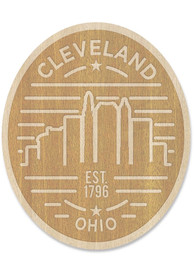 Cleveland Wooden Oval Cityscape Stickers