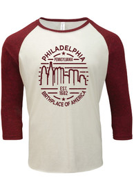 Philly Cream Skyline Raglan 3/4 Sleeve T Shirt