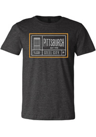 Pittsburgh Dark Grey Steel Tower Short Sleeve T Shirt