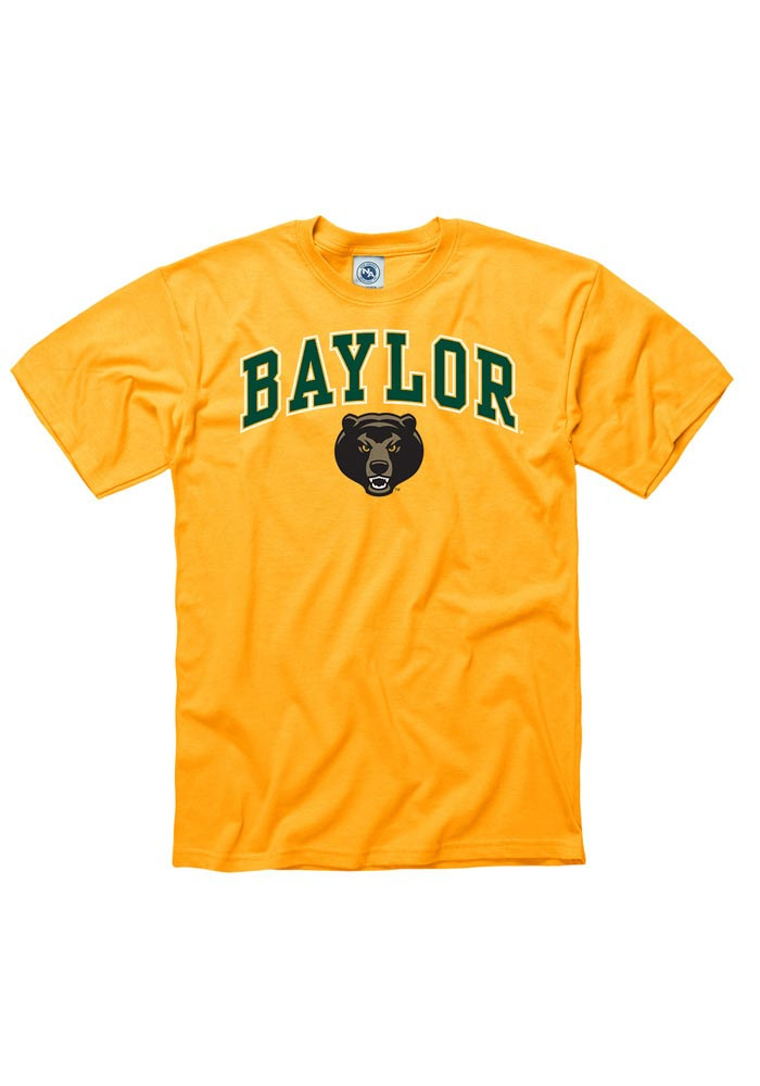 Baylor Bears Mens Gold Arch Short Sleeve T Shirt - Image 1