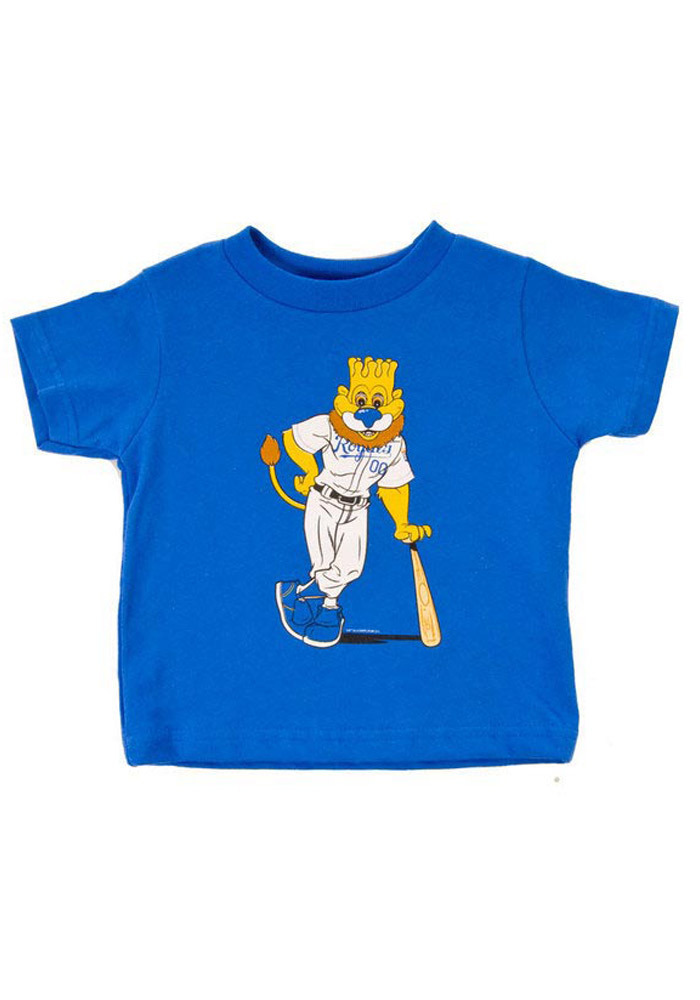 Kansas City Royals Toddler Blue Slugger Mascot Short Sleeve T-Shirt - Image 1