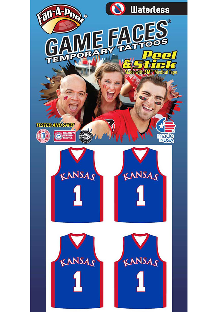 Kansas Jayhawks 4 Pack Tattoo
