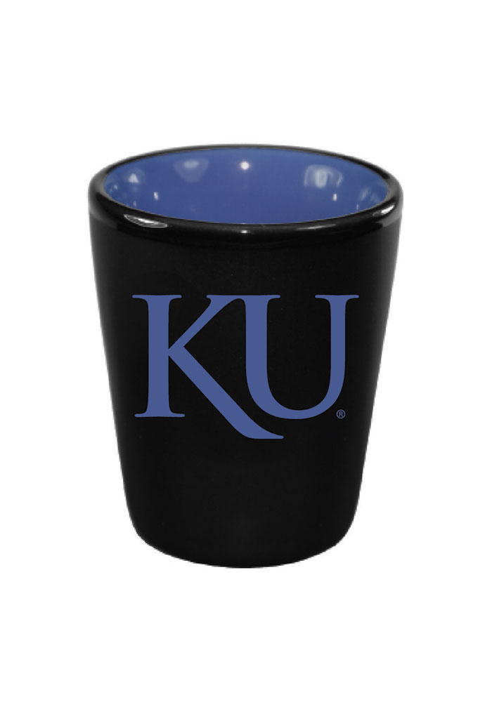 Kansas Jayhawks Matte Black Bistro Shot Glass - Image 1