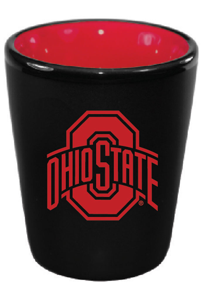 Ohio State Buckeyes Matte Black Bistro Shot Glass - Image 1