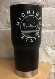 Michigan State Spartans Starry Scape 22oz Stainless Steel Tumbler - Black