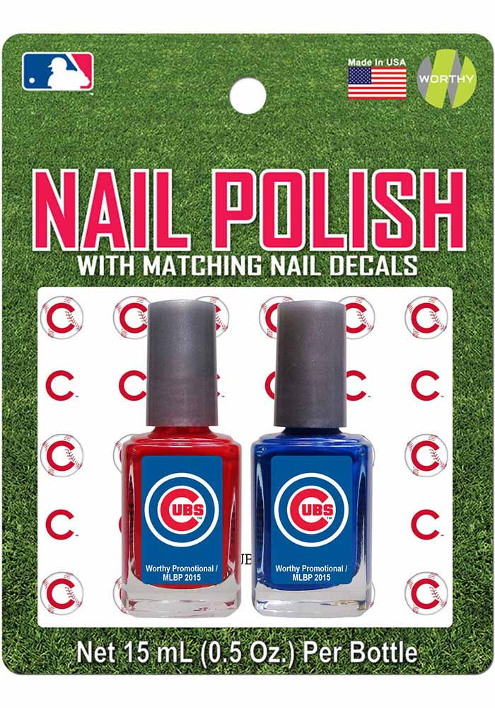 Chicago Cubs Nail Polish and Decal Duo Cosmetics - Image 1