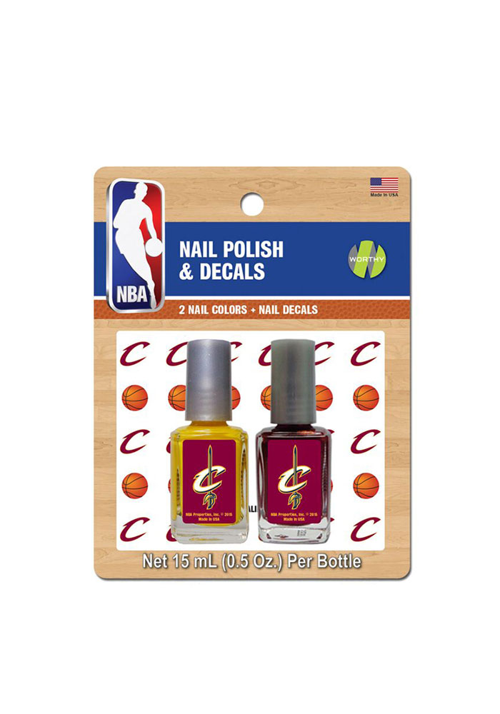 Cleveland Cavaliers Nail Polish and Decal Duo Cosmetics - Image 1