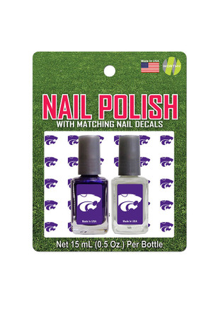 K-State Wildcats Nail Polish and Decal Duo Cosmetics