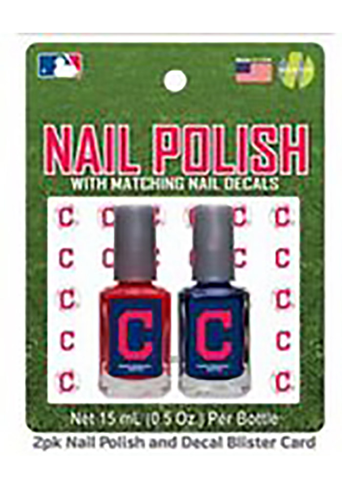 Cleveland Indians Nail Polish and Decal Duo Cosmetics - Image 1