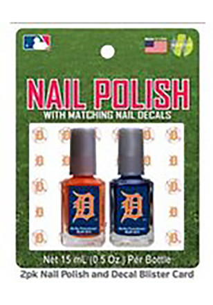 Detroit Tigers Nail Polish and Decal Duo Cosmetics