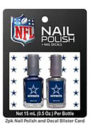 Dallas Cowboys Nail Polish & Decal Set Cosmetics