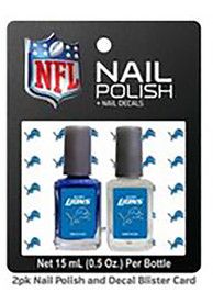Detroit Lions Nail Polish Decal Set Cosmetics