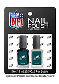 Philadelphia Eagles Nail Polish Decal Set Cosmetics