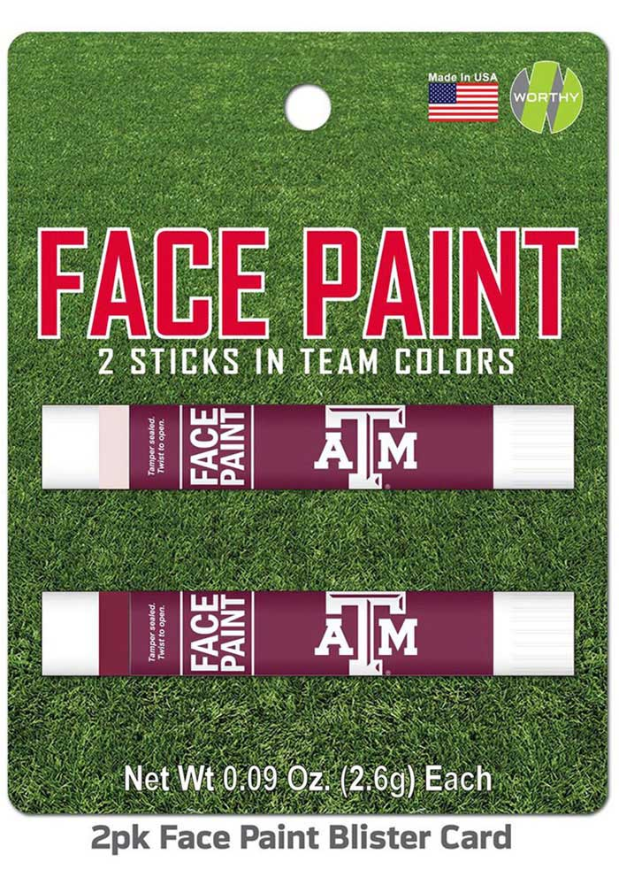 Texas A&M Aggies 2 Pack Team Color Face Paint - Image 1