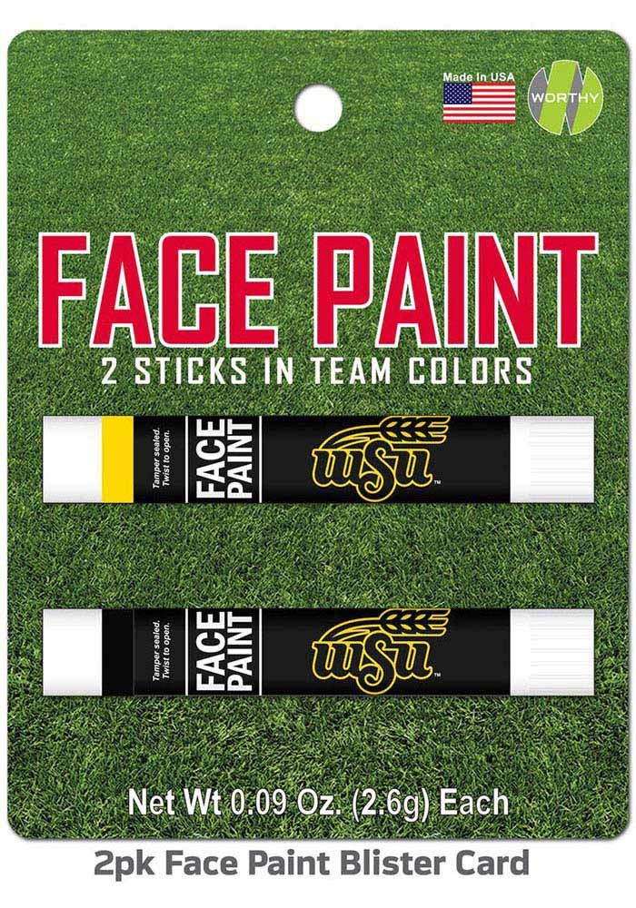 Wichita State Shockers 2 Pack Team Color Face Paint - Image 1
