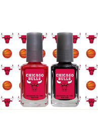 Chicago Bulls Nail Polish and Decal Set Cosmetics