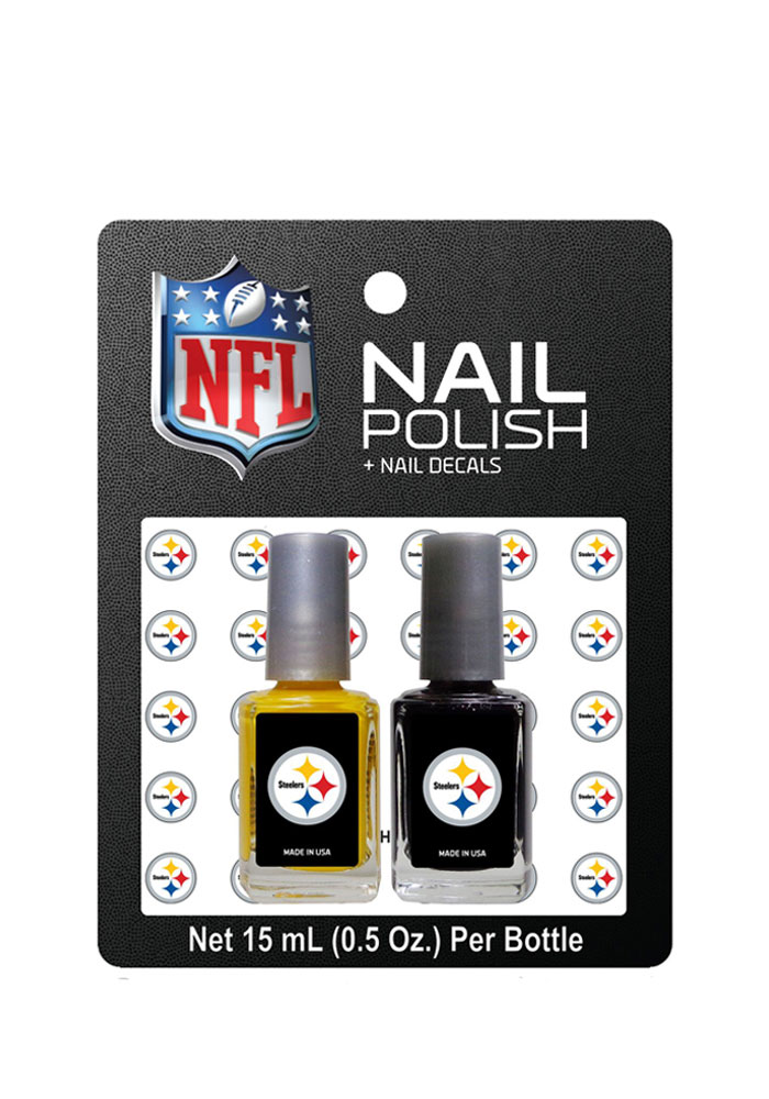 Pittsburgh Steelers Nail Polish and Decal Duo Cosmetics - Image 1