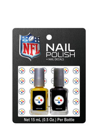 Pittsburgh Steelers Nail Polish and Decal Duo Cosmetics