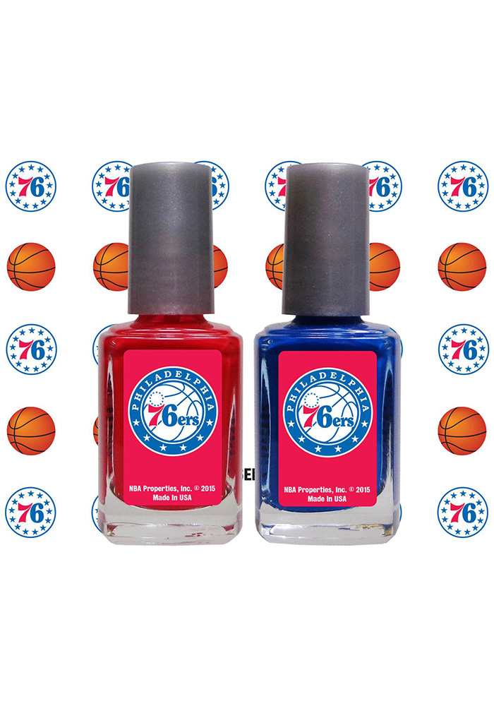 Philadelphia 76ers Nail Polish and Decal Set Cosmetics - 88490322