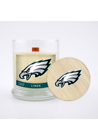 Philadelphia Eagles Linen 8oz Glass Candle Bathroom Decor