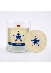 Dallas Cowboys Linen 8oz Glass Candle Bathroom Decor