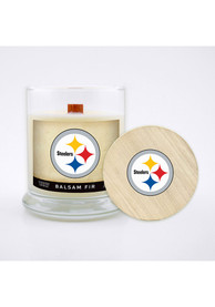 Pittsburgh Steelers Balsam Fir 8oz Glass Candle Bathroom Decor
