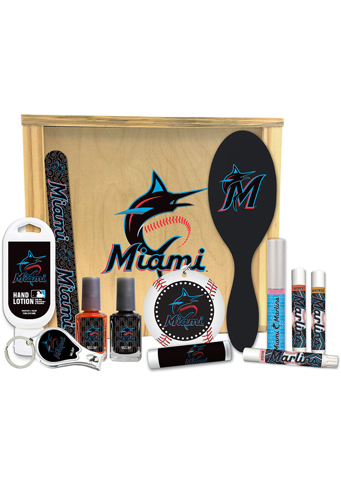 Miami Marlins Womens Beauty Gift Box Bathroom Set - Image 1