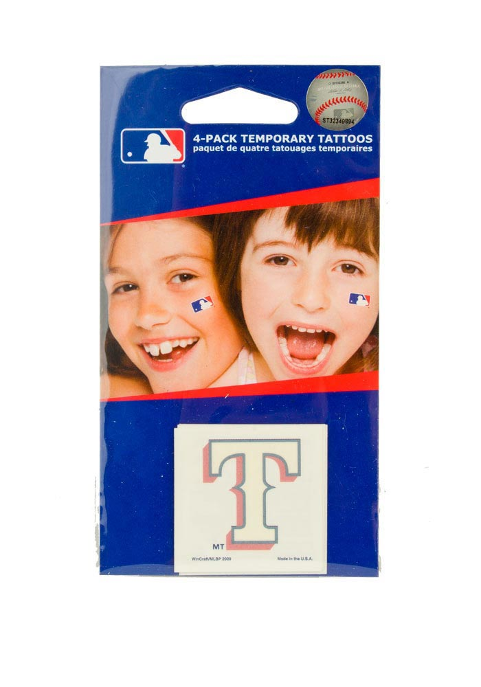 Texas Rangers 4 Pack Tattoo - Image 1