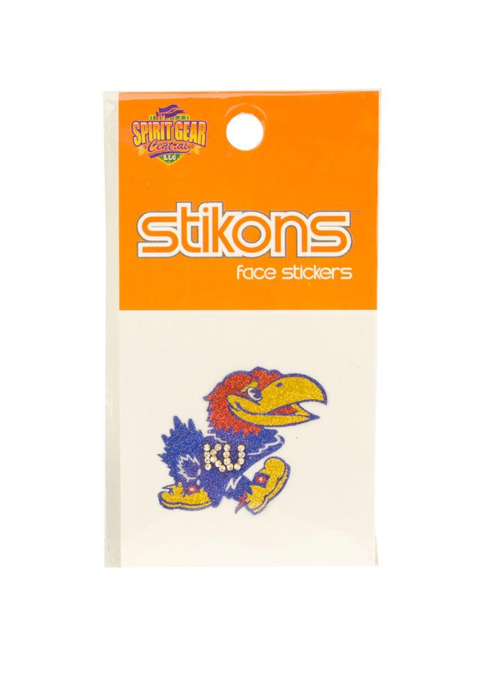 Kansas Jayhawks Glitter and Rhinestone Tattoo - Image 1