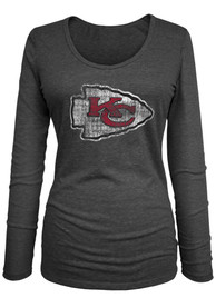 Kansas City Chiefs Womens Triblend T-Shirt - Black