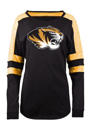 Mizzou Tigers Womens Athletic Black LS Tee