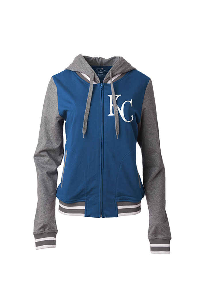Kansas City Royals Womens Blue French Terry Full Zip Jacket