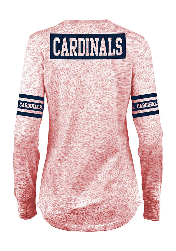 St Louis Cardinals Womens Red Novelty Long Sleeve Women's V-Neck - Image 2