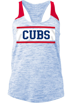 Chicago Cubs Womens Blue Novelty Tank Top