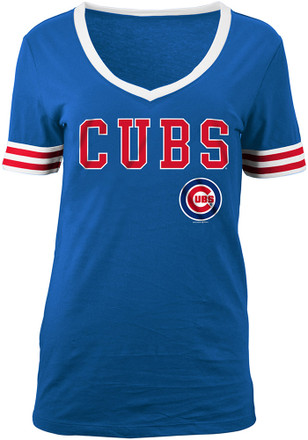 Chicago Cubs Womens Blue Opening Night T-Shirt