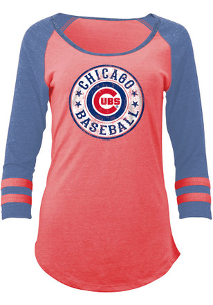 Chicago Cubs Womens Red Tri-Blend Women's Scoop
