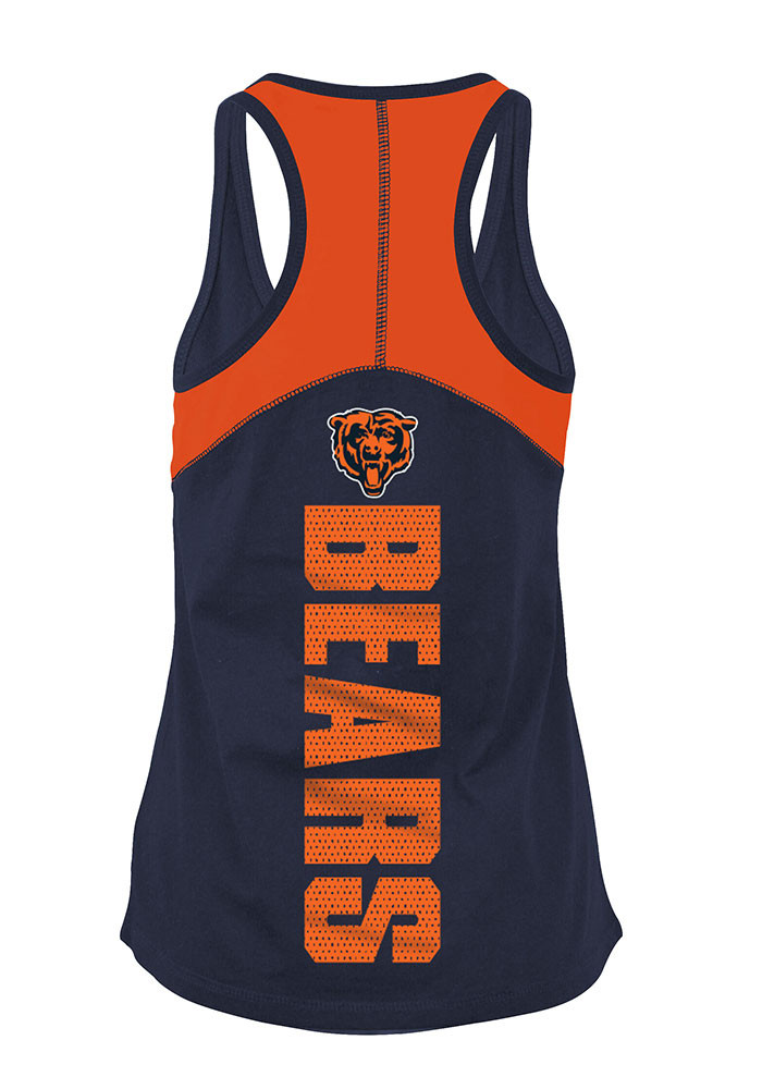 Chicago Bears Womens Navy Blue Training Camp Tank Top - Image 2
