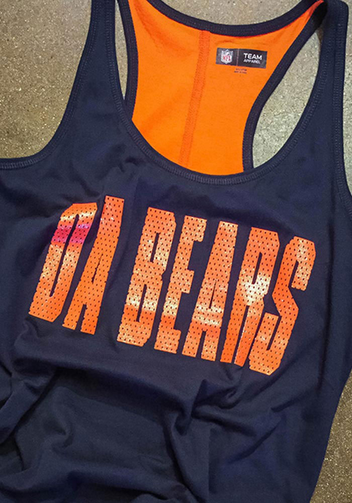 Chicago Bears Womens Navy Blue Training Camp Tank Top - Image 3