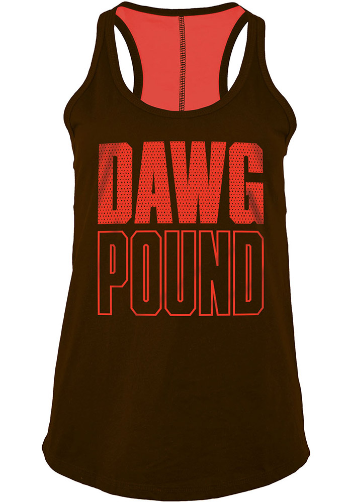 Cleveland Browns Womens Brown Training Camp Tank Top - Image 1