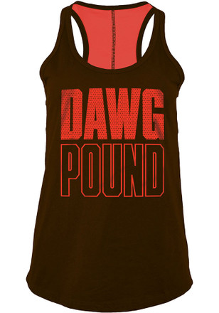 Cleveland Browns Womens Brown Training Camp Tank Top