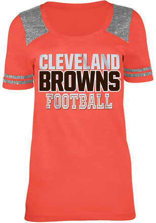 Cleveland Browns Womens Training Camp Red Scoop T-Shirt