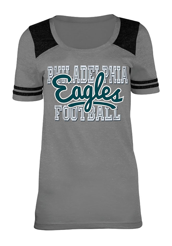 Philadelphia Eagles Womens Grey Training Camp Scoop T-Shirt - Image 1