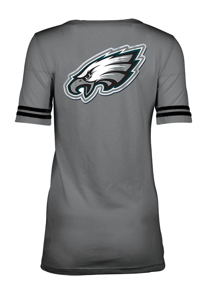 Philadelphia Eagles Womens Grey Training Camp Scoop T-Shirt - Image 2