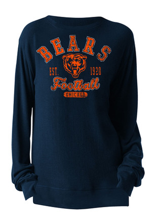 Chicago Bears Womens Navy Blue Athletic Pullover