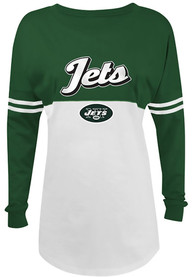New York Jets Womens Athletic White LS Tee