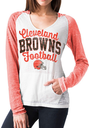 Cleveland Browns Womens White Raglan T-Shirt
