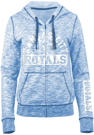KC Royals Womens Blue French Terry Full Zip Jacket