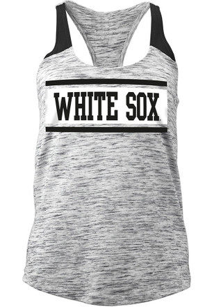 Chicago White Sox Womens Black Novelty Tank Top